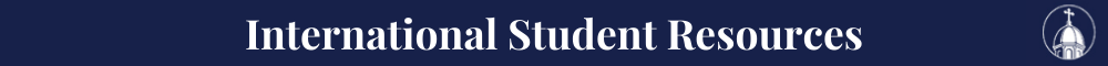 Int'l Students Resource Banner