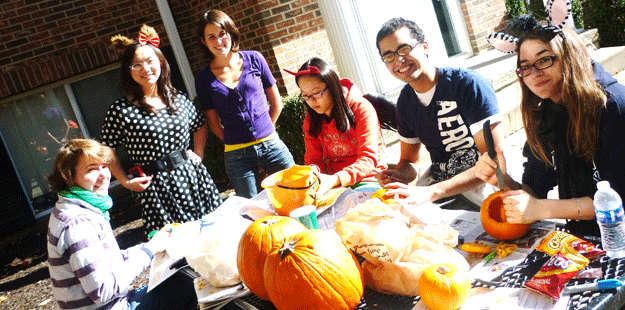 Carving pumpkins in the ILLC